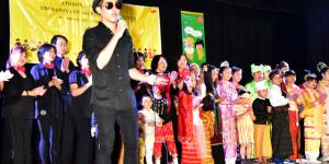 "Performance by ""Mingalarbar"" song"