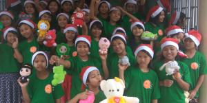"""One stuffed toy animal per orphaned children program"" made everyone to happy"
